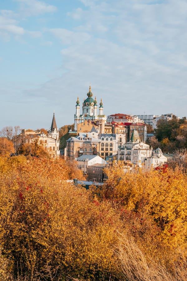 St Andrew ` s Kerk in Kiev royalty-vrije stock foto's