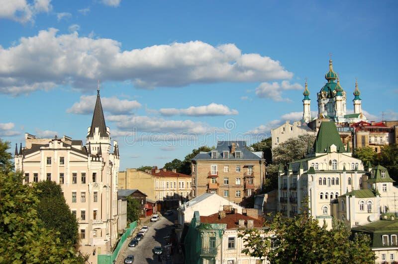 St. Andrew `s Kerk, Kiev, de Oekraïne stock foto