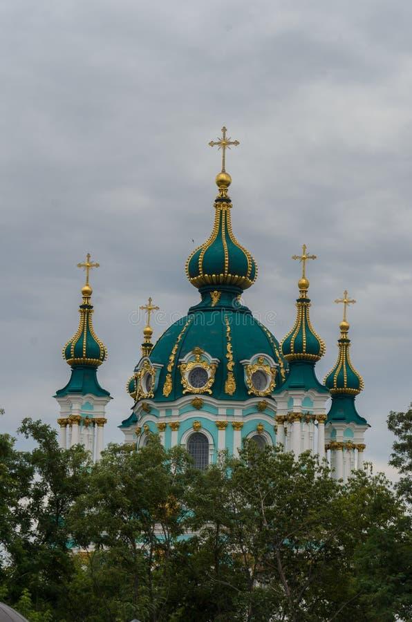St Andrew& x27; s kerk Oude historische orthodoxe kerk op Andre royalty-vrije stock foto
