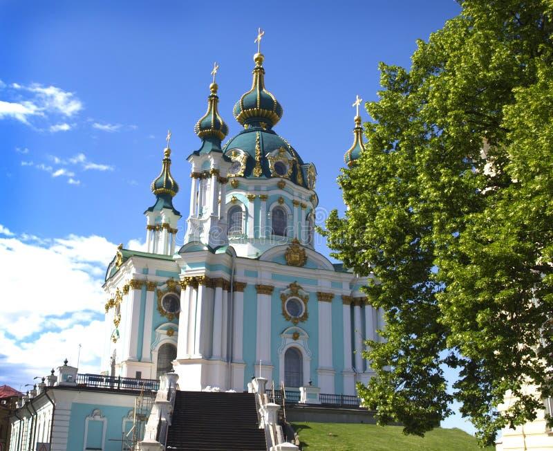 St- Andrew` s Kirche in Kiew stockfotos