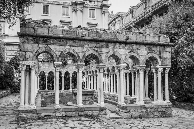 St- Andrew` s Kloster in Genua, Italien lizenzfreie stockbilder