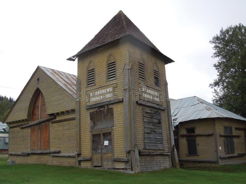 St Andrew ` s Kościelnego â€' Dawson miasto, Yukon, Kanada zdjęcie stock