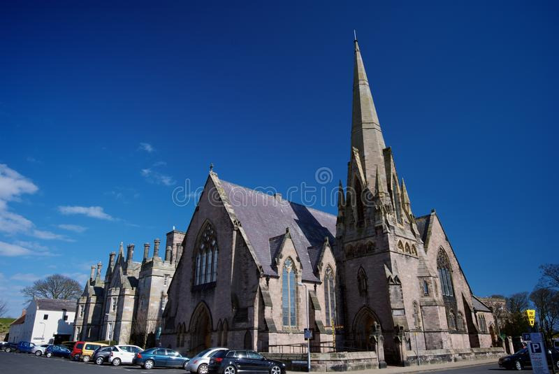 St Andrew's Wallace Green and Lowick Church of Scotland stock photography