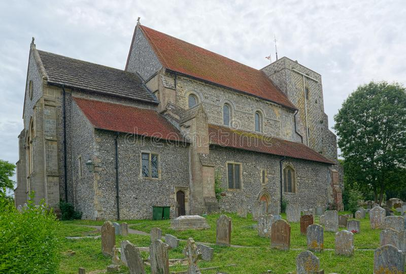 St Andrew & St Cuthman Church, Steyning, Sussex. Work began on a church at Steyning in 1080. Steyning was a major town in early Sussex  and it was an equally royalty free stock photo