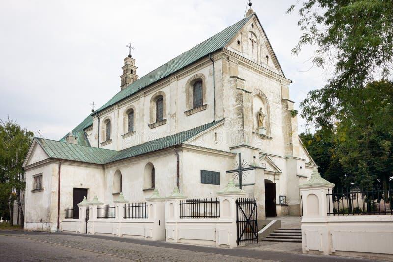 St- Andrewkirche in Leczyca, Polen lizenzfreie stockbilder