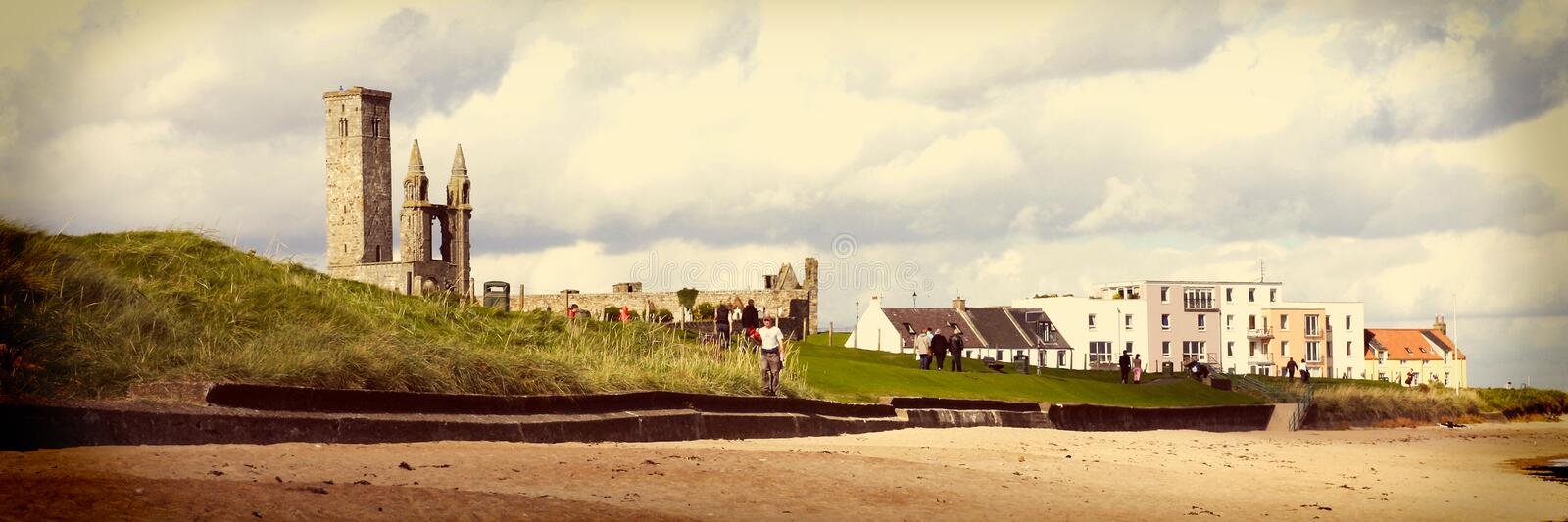 Download St. Andrews Abbey And University, North Sea Coast, Scotland Stock Photo - Image of summer, cloud: 47938390