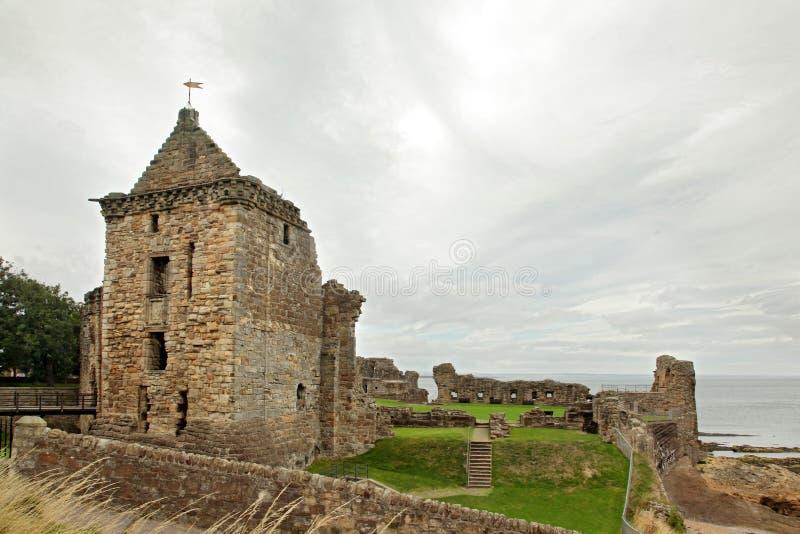 St Andrews Castle Ruins Medieval Landmark. Fifre, Ecosse images libres de droits