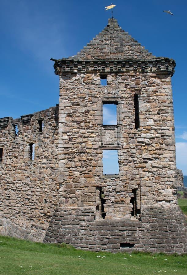 St Andrews Castle Ruins Scotland imagens de stock