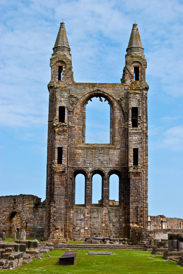 St Andrews cathedral stock photography