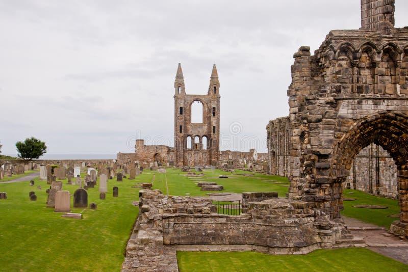 St Andrews Cathedral - Fife - Schotland royalty-vrije stock fotografie