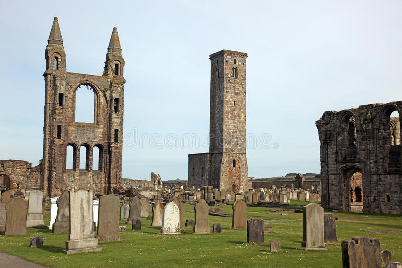 St Andrews cathedral grounds, Scotland. UK stock photography