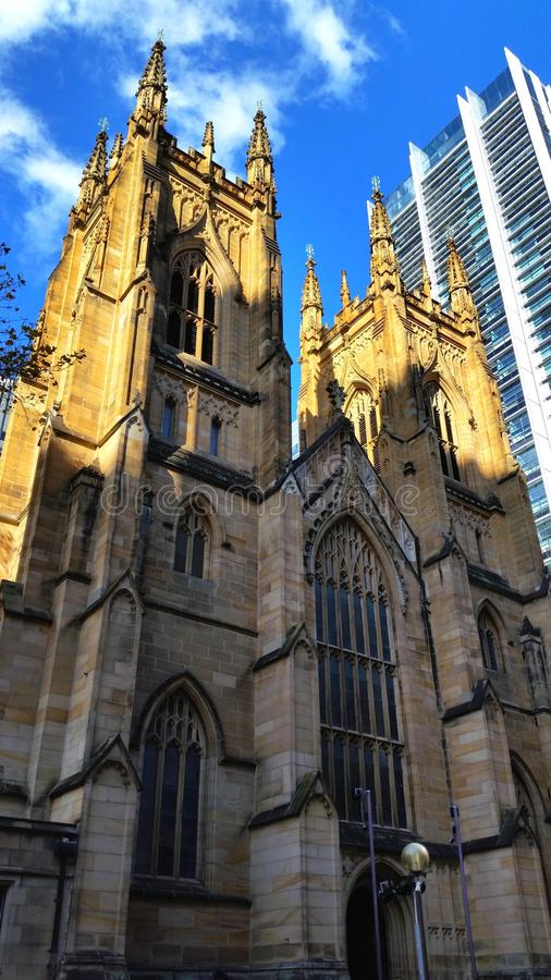 St Andrews Cathedral, Sydney City, Australië stock foto