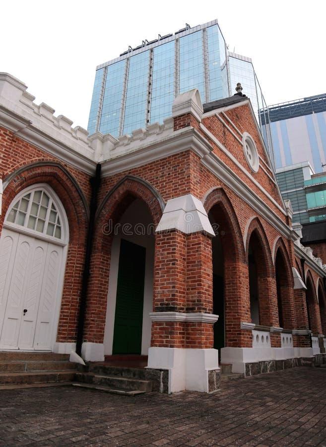 St Andrews Church em Hong Kong imagem de stock