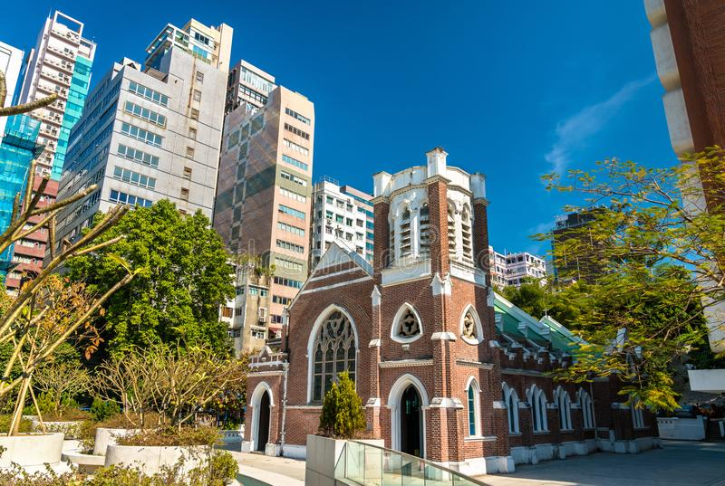 St Andrews Church i Kowloon, Hong Kong fotografering för bildbyråer
