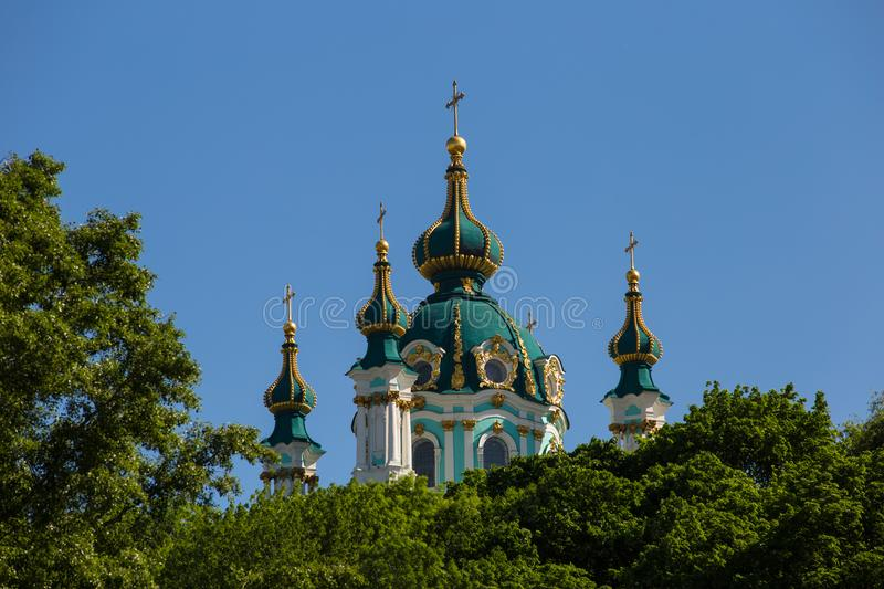 St Andrews Church in Kiev, summer royalty free stock photo