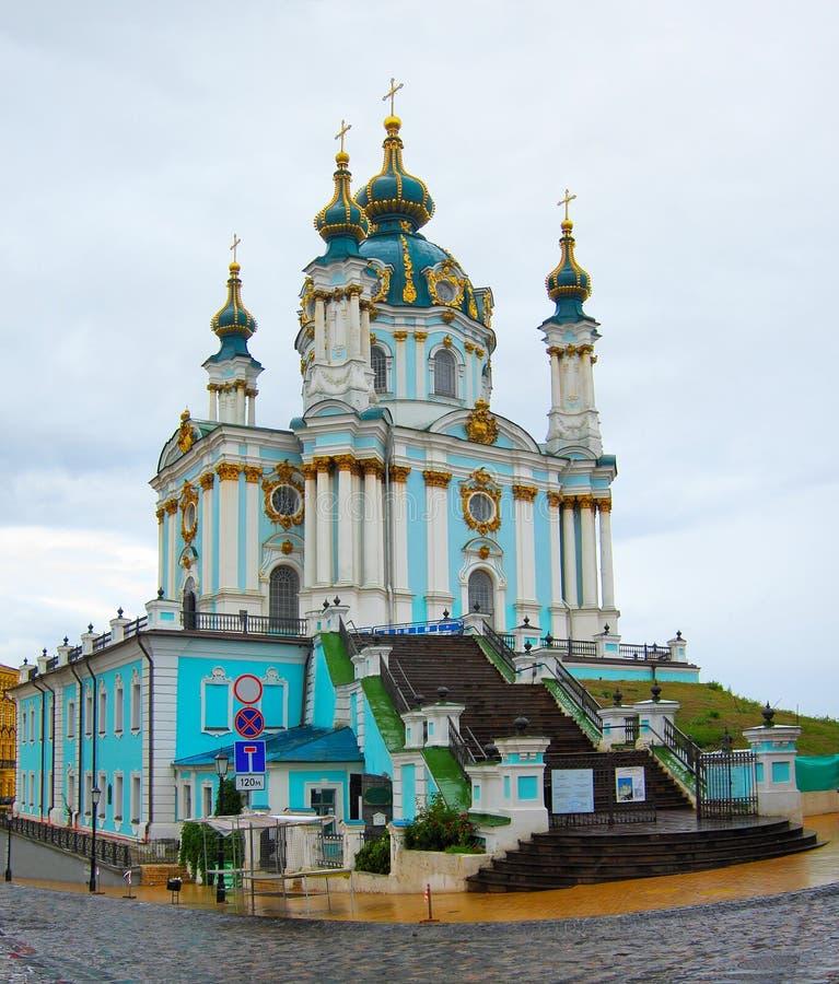 St Andrews Church, Kiev Ukraina arkivbilder