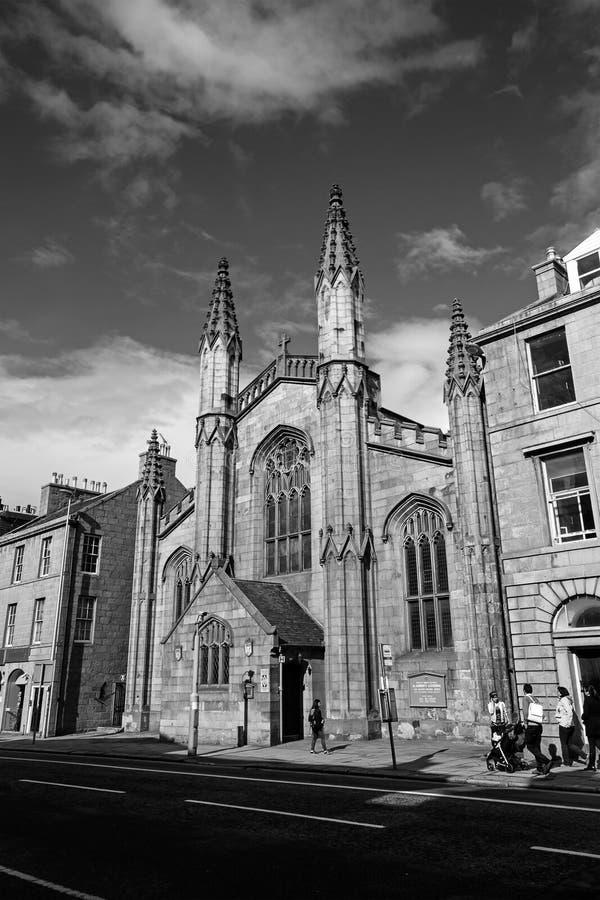 St Andrews domkyrka, Aberdeen, Skottland, UK, 13/08/2017 royaltyfri bild