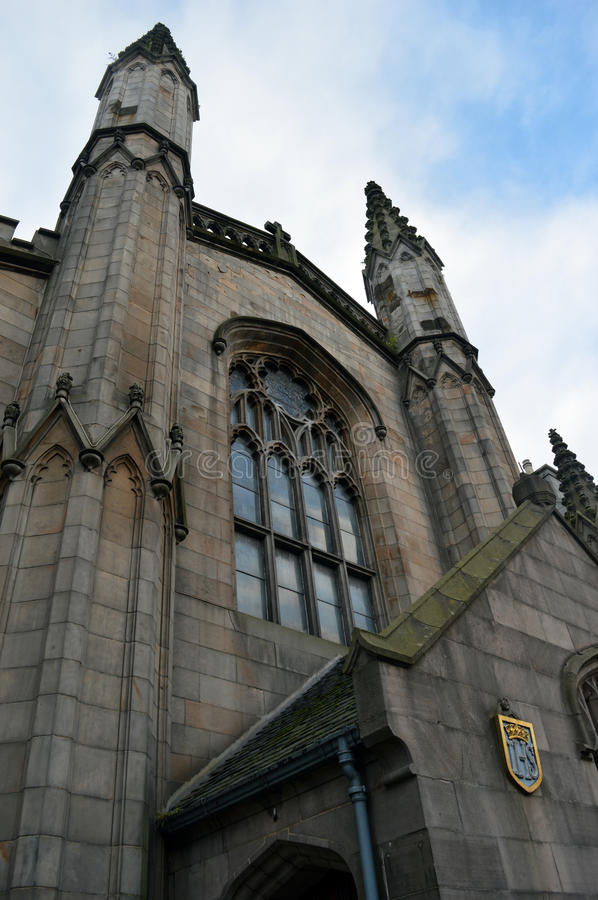 St Andrews Episcopal Cathedral, Aberdeen. Scotland. Mother church of the Anglican Communion in the United States. Facade of the cathedral, constructed in royalty free stock photo