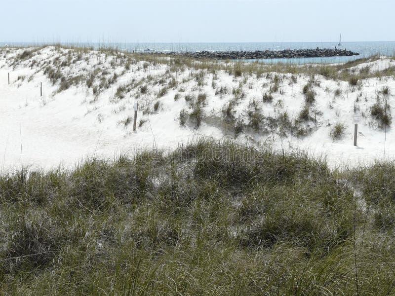 St. Andrews Florida Beach Jetty lizenzfreie stockfotos