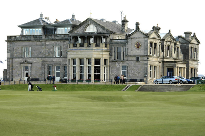 St. Andrews golf clubhouse royalty free stock photography