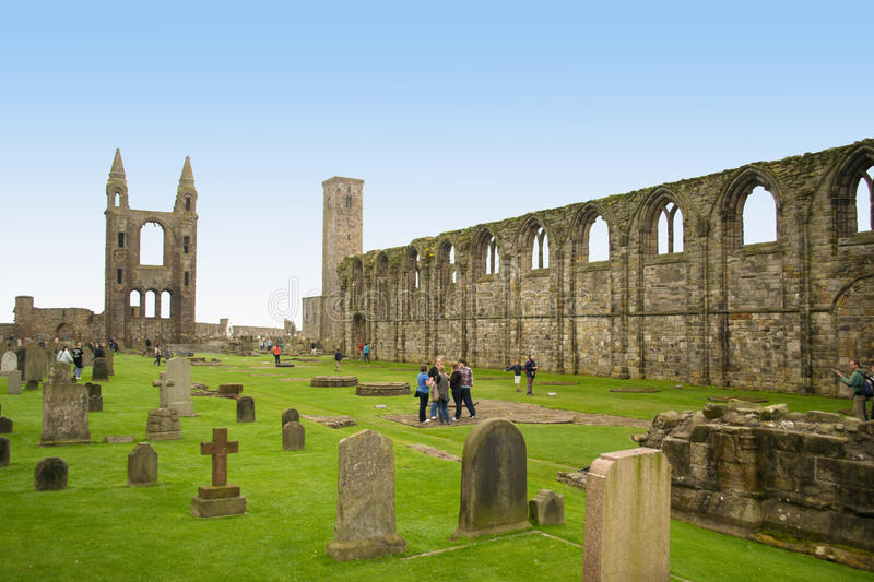 St Andrews kathedraal stock foto