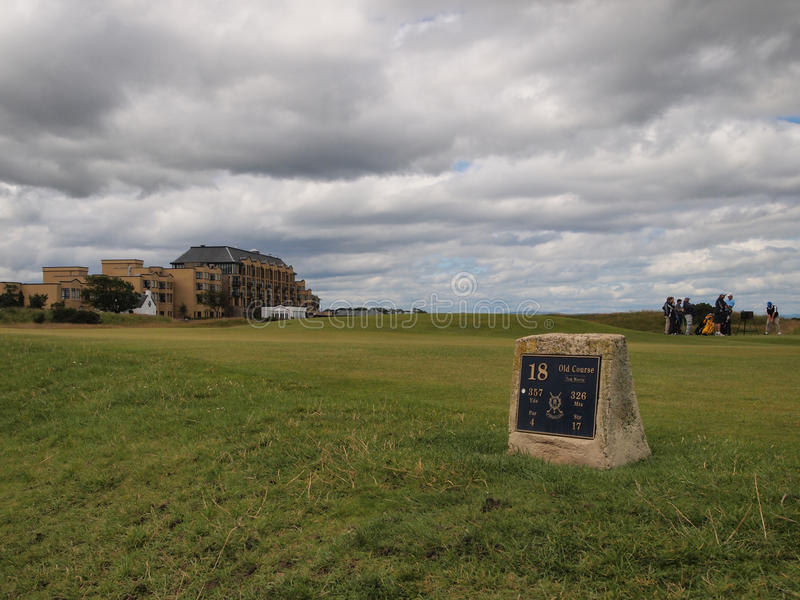 St Andrews Links Old Course golf course stock images