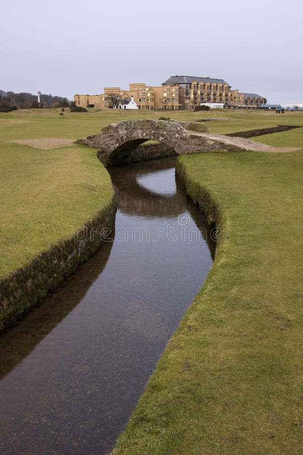 Download St Andrews Old Course stock image. Image of green, burn - 18162289