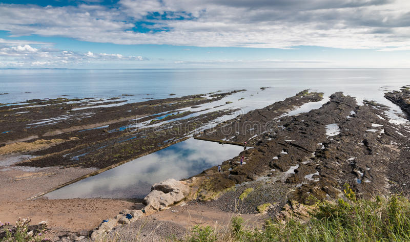 St. Andrews Rocky Shore royalty free stock images
