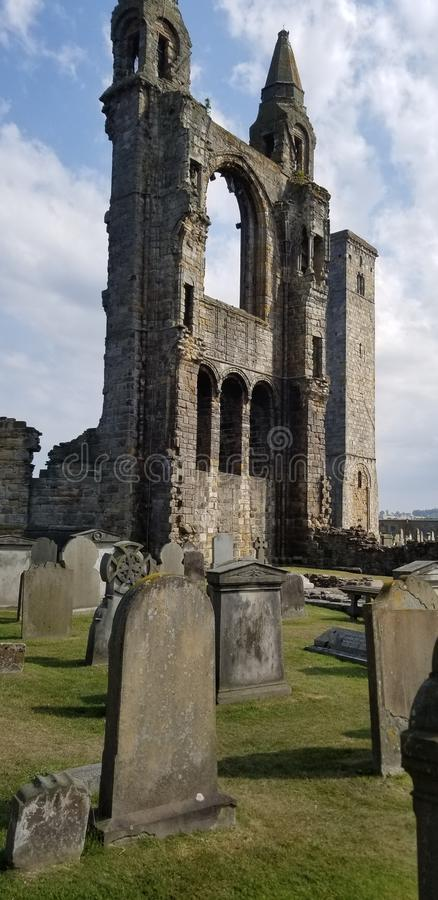 St Andrews ruins royalty free stock images