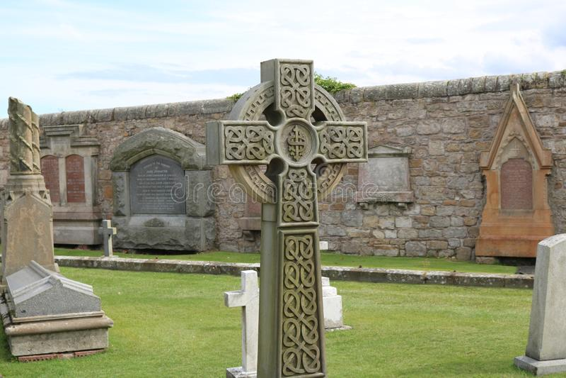 St. Andrews, Scotland Celtic Cross stock image