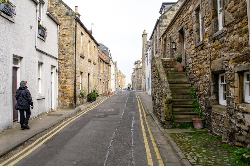 Cobbled streets of St. Andrews stock photography