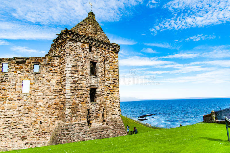 St. Andrews, Scotland, UK- circa sepotember 2016Ruins of St. And royalty free stock images