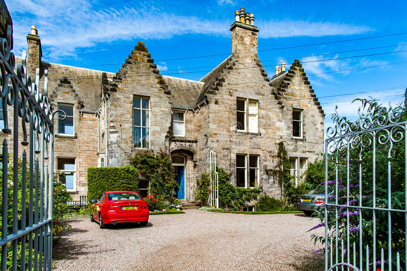 St. Andrews, Scotland, UK- circa sepotember 2016. typical house stock images