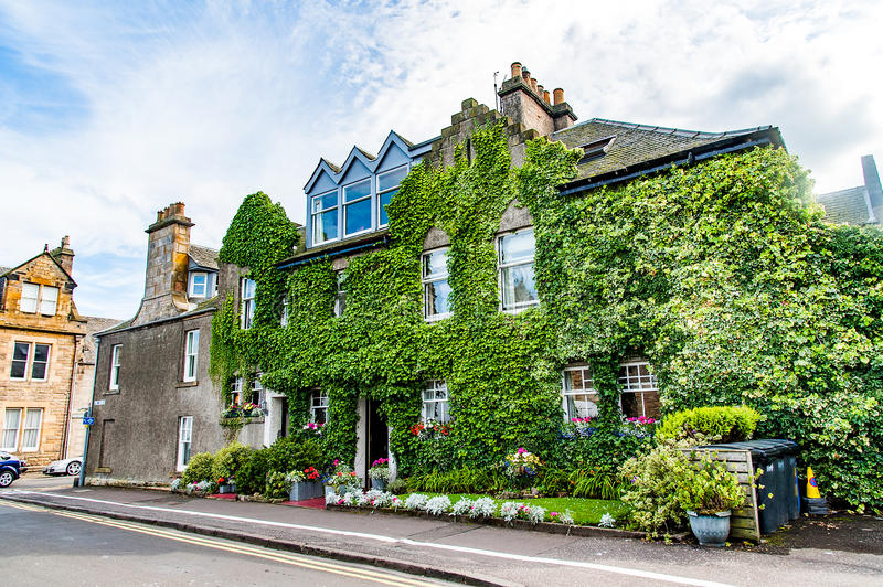 St. Andrews, Scotland, UK- circa sepotember 2016. typical house royalty free stock images