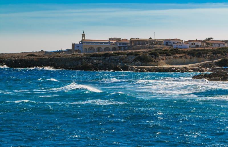 St- Andrewskloster auf Zypern stockbilder