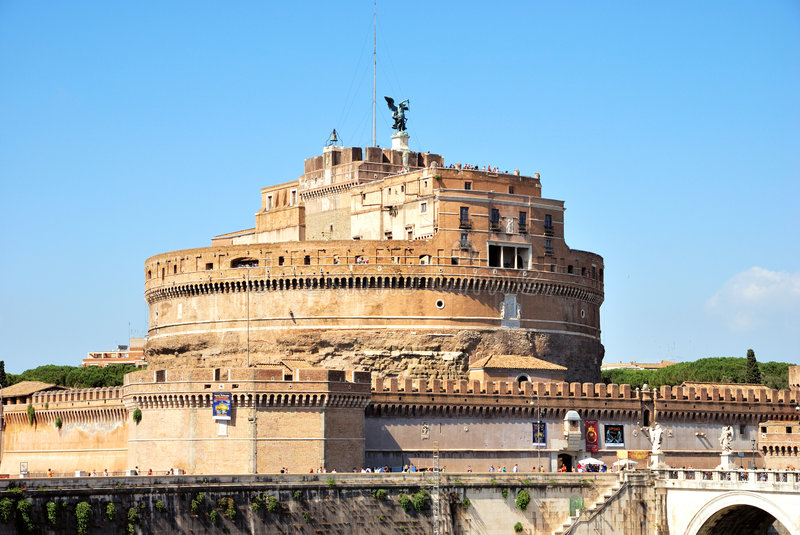 St. Angel Castle, Rome royalty free stock photo