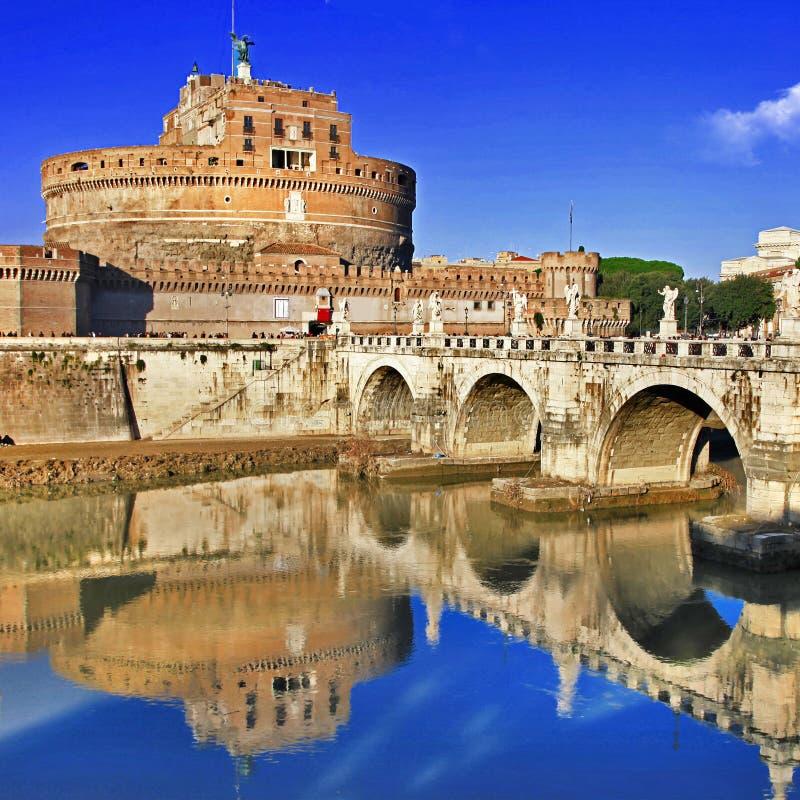 St. Angelo замка. Рим стоковые фотографии rf