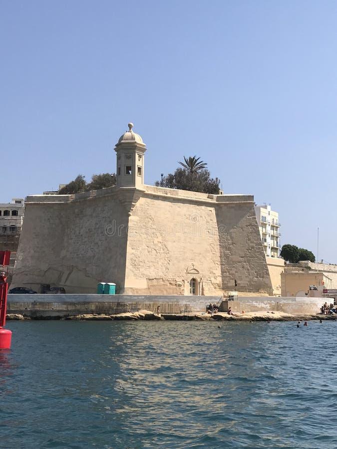 St Angelo de fort de Malte images libres de droits