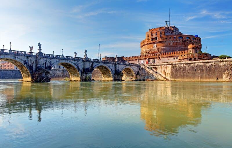 St. Angelo do castelo. Roma, Itália imagem de stock