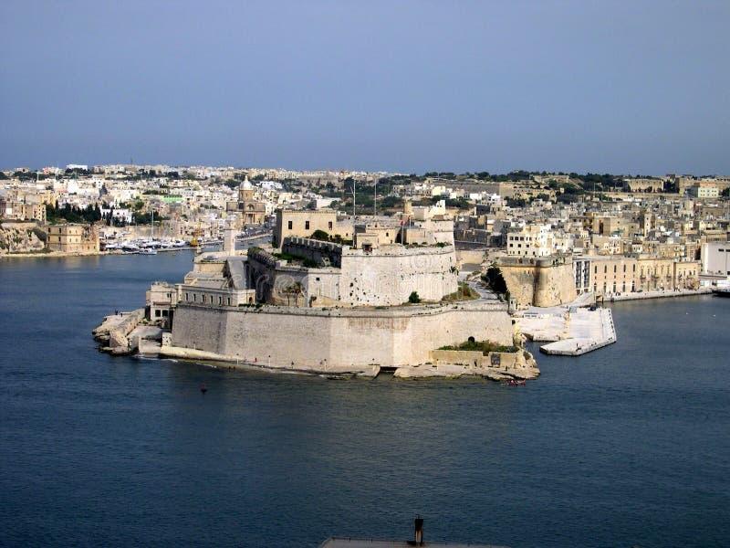 St Angelo do forte, Valletta, Malta foto de stock