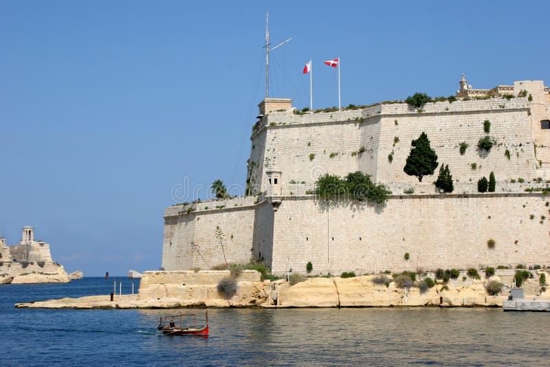St Angelo, grande porto, Malta della fortificazione fotografie stock