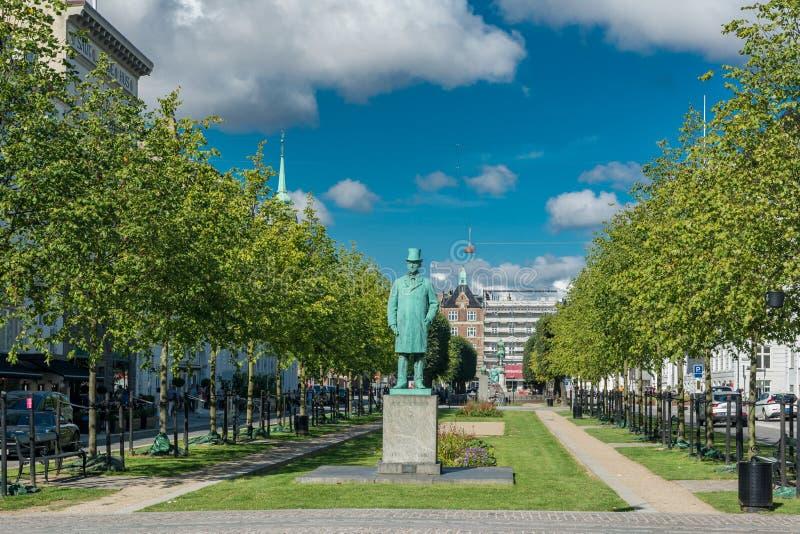 St Ann ` s Vierkant in Kopenhagen stock afbeelding