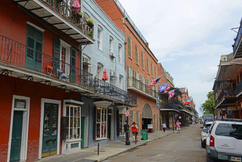 St Ann ulica w dzielnicie francuskiej, Nowy Orlean obraz royalty free