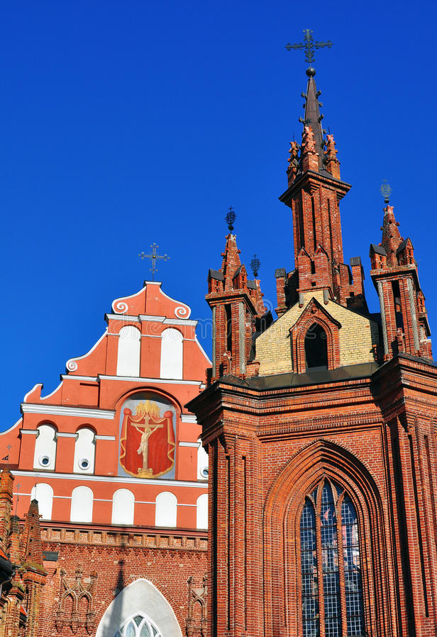 St Anna en Bernardinu-kerk, Vilnius royalty-vrije stock fotografie