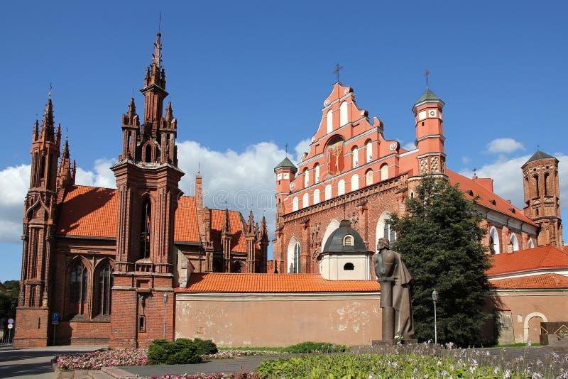St. Anna Kerk in Vilnius, Litouwen. stock fotografie