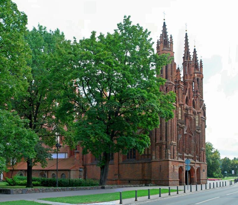 St. Anna Kerk in Vilnius, Litouwen. royalty-vrije stock afbeeldingen