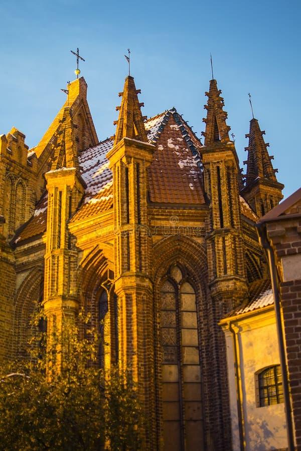 Kirche von St Anne in Vilnius lizenzfreie stockfotos