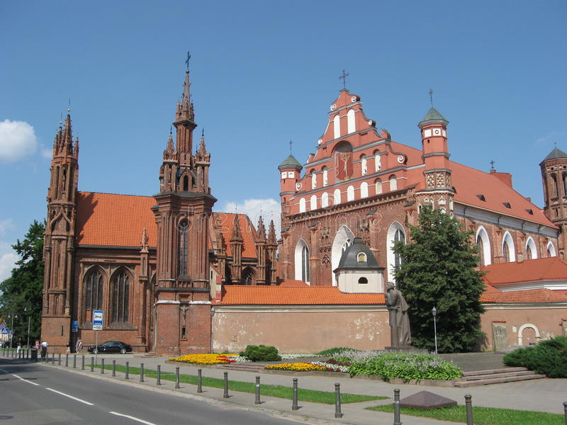 St Anne Kirche und Bernardine Monastery, Vilnius, Litauen lizenzfreies stockbild