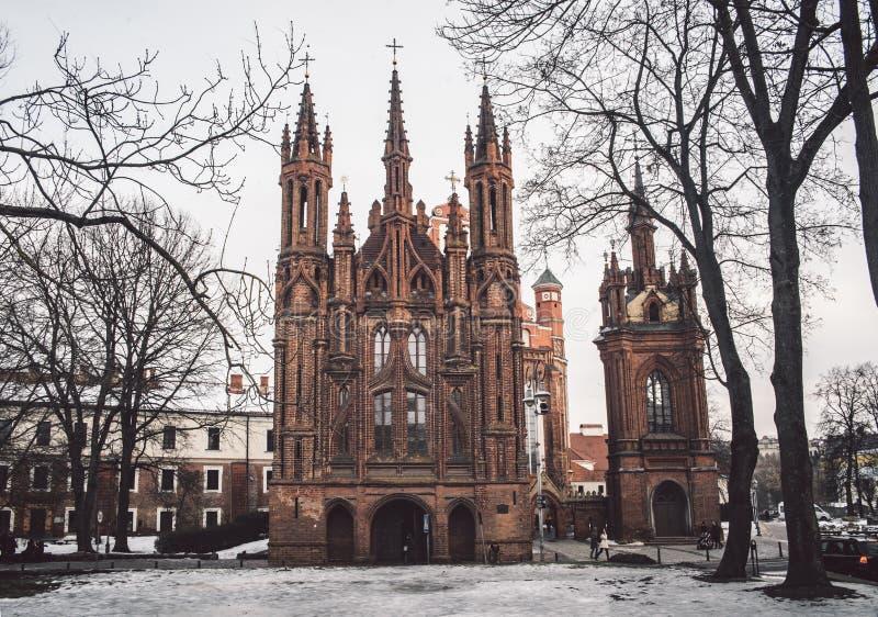 St. Anne`s Church and Bernardine Monastery stock images
