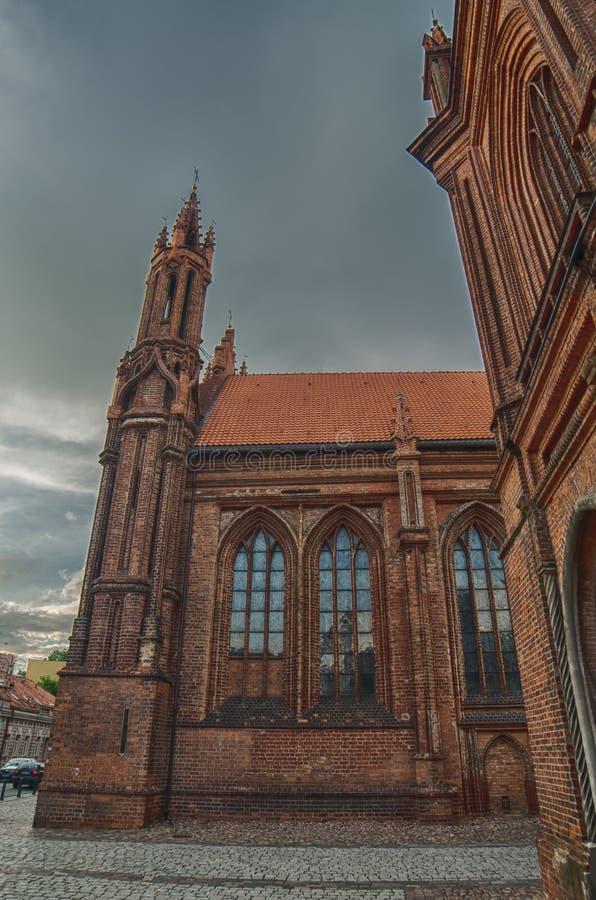 St Anne s-Kirche in Vilnius, Litauen lizenzfreies stockfoto